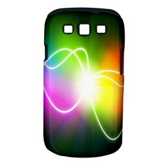 Lines Wavy Ight Color Rainbow Colorful Samsung Galaxy S III Classic Hardshell Case (PC+Silicone)
