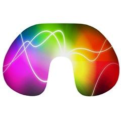 Lines Wavy Ight Color Rainbow Colorful Travel Neck Pillows