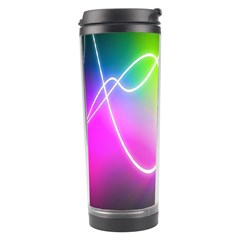 Lines Wavy Ight Color Rainbow Colorful Travel Tumbler