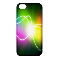 Lines Wavy Ight Color Rainbow Colorful Apple iPhone 5C Hardshell Case
