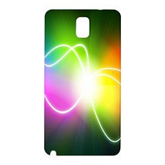 Lines Wavy Ight Color Rainbow Colorful Samsung Galaxy Note 3 N9005 Hardshell Back Case