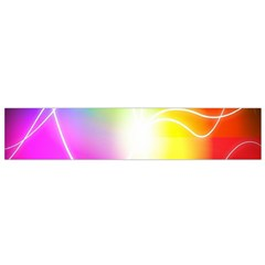 Lines Wavy Ight Color Rainbow Colorful Flano Scarf (Small)