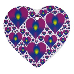 Heart Love Valentine Purple Gold Ornament (Heart)