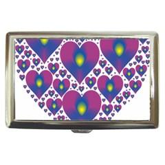 Heart Love Valentine Purple Gold Cigarette Money Cases