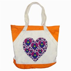 Heart Love Valentine Purple Gold Accent Tote Bag