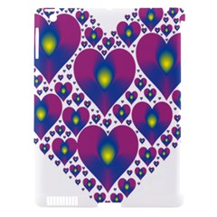 Heart Love Valentine Purple Gold Apple iPad 3/4 Hardshell Case (Compatible with Smart Cover)