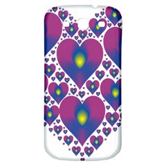 Heart Love Valentine Purple Gold Samsung Galaxy S3 S III Classic Hardshell Back Case
