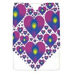 Heart Love Valentine Purple Gold Flap Covers (s)