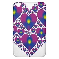 Heart Love Valentine Purple Gold Samsung Galaxy Tab 3 (8 ) T3100 Hardshell Case