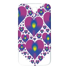 Heart Love Valentine Purple Gold Samsung Galaxy Mega I9200 Hardshell Back Case