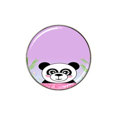 Panda Happy Birthday Pink Face Smile Animals Flower Purple Green Hat Clip Ball Marker (4 Pack)