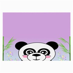 Panda Happy Birthday Pink Face Smile Animals Flower Purple Green Large Glasses Cloth