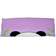 Panda Happy Birthday Pink Face Smile Animals Flower Purple Green Body Pillow Case (Dakimakura)
