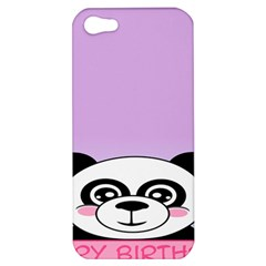 Panda Happy Birthday Pink Face Smile Animals Flower Purple Green Apple iPhone 5 Hardshell Case