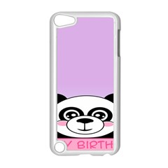 Panda Happy Birthday Pink Face Smile Animals Flower Purple Green Apple iPod Touch 5 Case (White)
