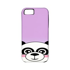 Panda Happy Birthday Pink Face Smile Animals Flower Purple Green Apple Iphone 5 Classic Hardshell Case (pc+silicone)