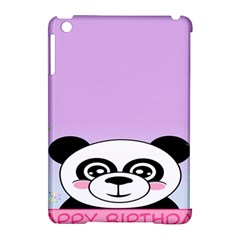 Panda Happy Birthday Pink Face Smile Animals Flower Purple Green Apple iPad Mini Hardshell Case (Compatible with Smart Cover)