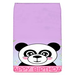 Panda Happy Birthday Pink Face Smile Animals Flower Purple Green Flap Covers (L)