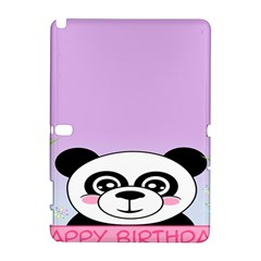 Panda Happy Birthday Pink Face Smile Animals Flower Purple Green Galaxy Note 1