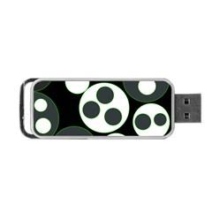 Origami Leaf Sea Dragon Circle Line Green Grey Black Portable USB Flash (Two Sides)