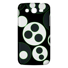 Origami Leaf Sea Dragon Circle Line Green Grey Black Samsung Galaxy Mega 5.8 I9152 Hardshell Case