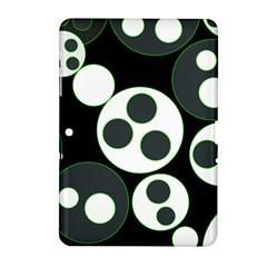 Origami Leaf Sea Dragon Circle Line Green Grey Black Samsung Galaxy Tab 2 (10.1 ) P5100 Hardshell Case