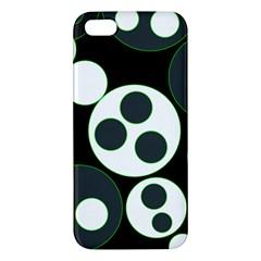 Origami Leaf Sea Dragon Circle Line Green Grey Black Iphone 5s/ Se Premium Hardshell Case