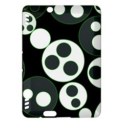 Origami Leaf Sea Dragon Circle Line Green Grey Black Kindle Fire HDX Hardshell Case