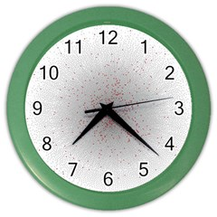 Physical Chemistry Circle Red Grey Color Wall Clocks