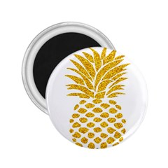Pineapple Glitter Gold Yellow Fruit 2.25  Magnets
