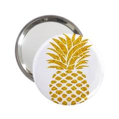 Pineapple Glitter Gold Yellow Fruit 2.25  Handbag Mirrors