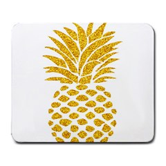 Pineapple Glitter Gold Yellow Fruit Large Mousepads
