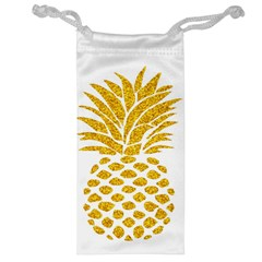 Pineapple Glitter Gold Yellow Fruit Jewelry Bag