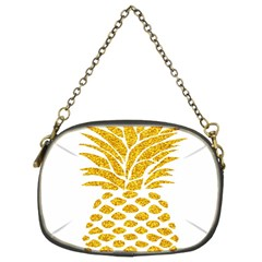 Pineapple Glitter Gold Yellow Fruit Chain Purses (Two Sides)