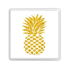 Pineapple Glitter Gold Yellow Fruit Memory Card Reader (square)