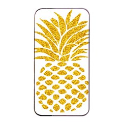 Pineapple Glitter Gold Yellow Fruit Apple iPhone 4/4s Seamless Case (Black)