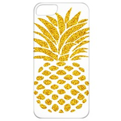 Pineapple Glitter Gold Yellow Fruit Apple iPhone 5 Classic Hardshell Case