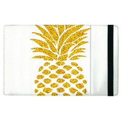 Pineapple Glitter Gold Yellow Fruit Apple iPad 3/4 Flip Case
