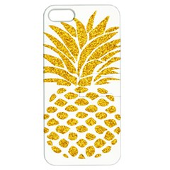 Pineapple Glitter Gold Yellow Fruit Apple iPhone 5 Hardshell Case with Stand