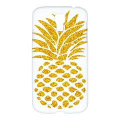 Pineapple Glitter Gold Yellow Fruit Samsung Galaxy S4 I9500/I9505 Hardshell Case