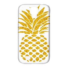 Pineapple Glitter Gold Yellow Fruit Samsung Galaxy S4 Classic Hardshell Case (PC+Silicone)