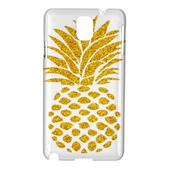 Pineapple Glitter Gold Yellow Fruit Samsung Galaxy Note 3 N9005 Hardshell Case
