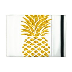 Pineapple Glitter Gold Yellow Fruit iPad Mini 2 Flip Cases