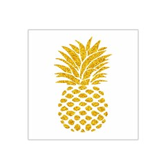 Pineapple Glitter Gold Yellow Fruit Satin Bandana Scarf