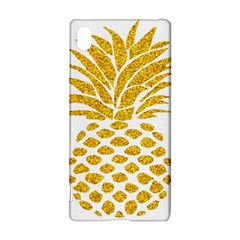 Pineapple Glitter Gold Yellow Fruit Sony Xperia Z3+