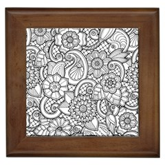 These Flowers Need Colour! Framed Tiles