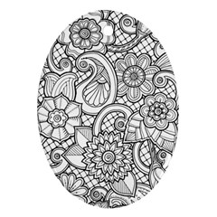 These Flowers Need Colour! Ornament (Oval)