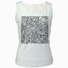 These Flowers Need Colour! Women s White Tank Top