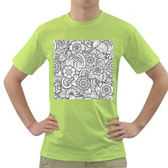 These Flowers Need Colour! Green T-Shirt