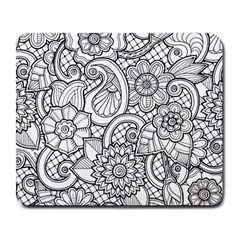 These Flowers Need Colour! Large Mousepads